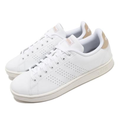 adidas 休閒鞋 Advantage 復古 低筒 男鞋 海外限定 愛迪達 三葉草 皮革 穿搭 基本 白褐 EE7684