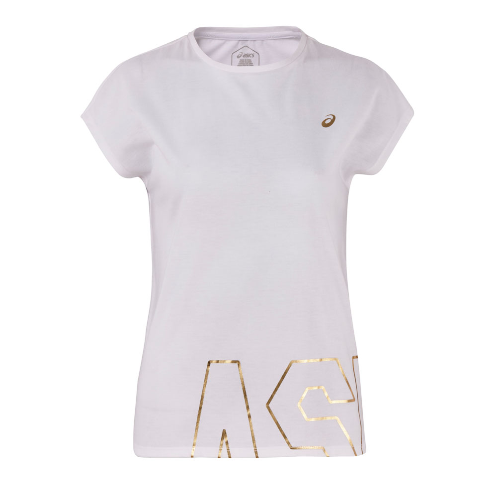 ASICS 女棉感短袖上衣(白) 2032A891-100