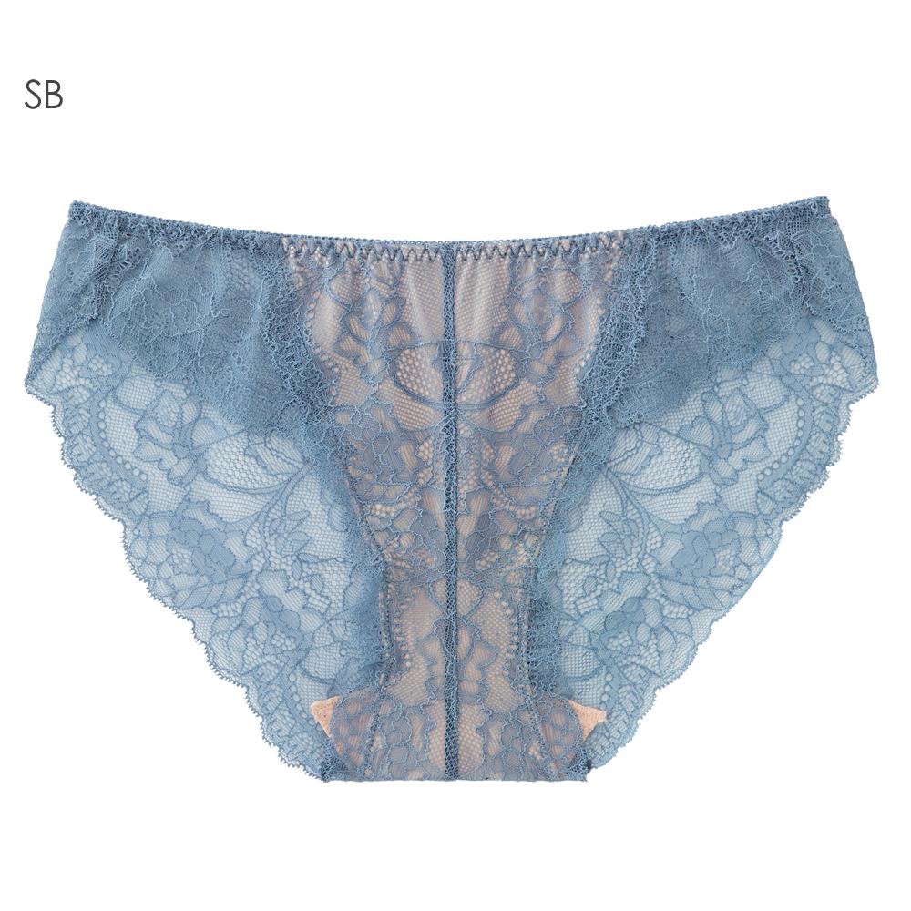 aimerfeel 蕾絲無痕內褲-珍珠藍-170721-SB