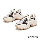 達芙妮DAPHNE  休閒鞋-拼接鬆糕厚底老爹鞋-淺灰