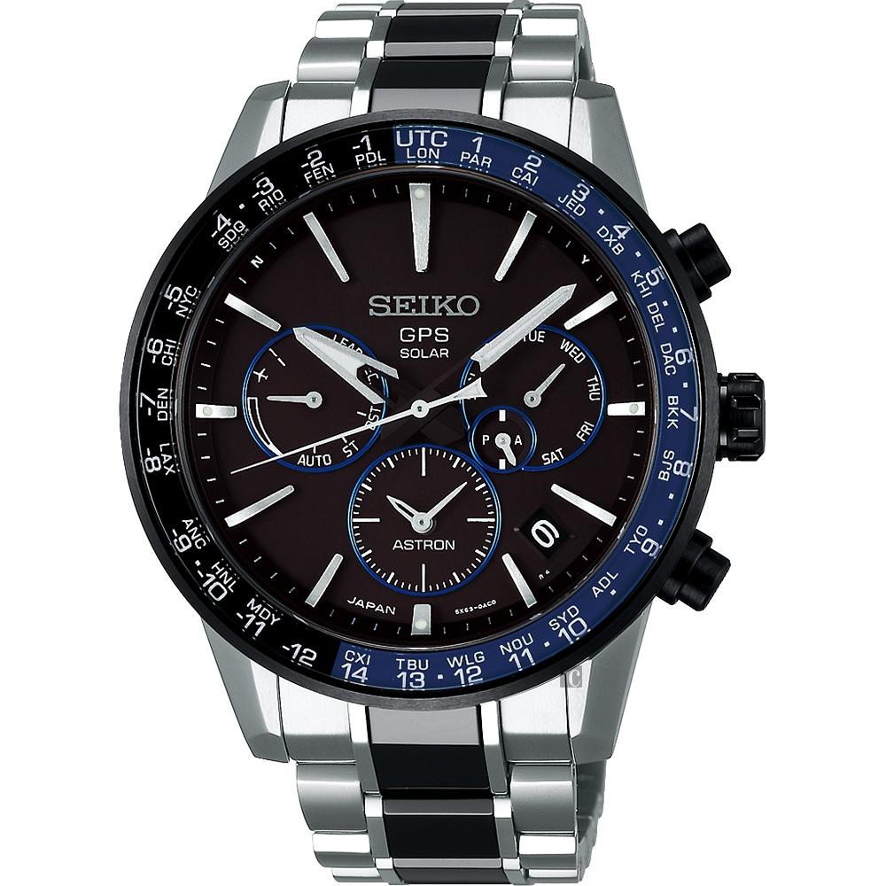 SEIKO 精工 Astron 5X53 雙時區 陶瓷鈦金屬GPS衛星定位錶 @ Y!購物