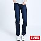 EDWIN JERSEYS 迦績 EJ1 超彈中低腰靴型牛仔褲-女-原藍磨