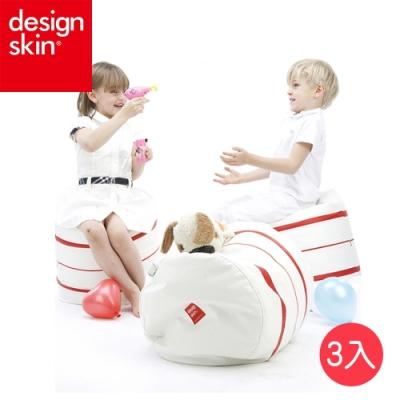 【韓國design skin】紅白連接豆豆椅子/靠枕/抱枕(3入組)