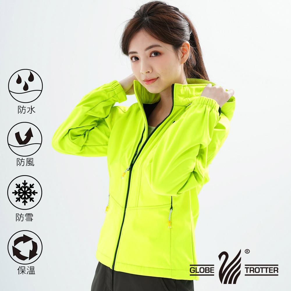 【遊遍天下】女款GlobeTex防水透濕防風刷毛軟殼外套GJ23008螢光黃
