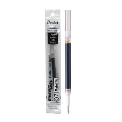 美版Pentel原子筆芯ENERGEL替芯0.7mm鋼珠筆芯:LR7-A黑/B紅/C藍(日本製造;Metal Tip)砲彈筆頭