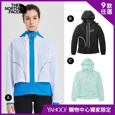 【The North Face】YAHOO獨家限定-北面男女款防潑水連帽外套-9款任選