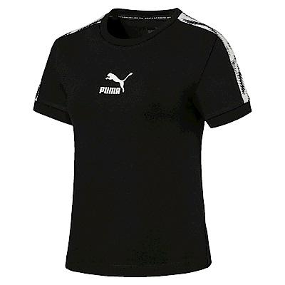 PUMA-女性流行系列Wild短袖T恤-黑色-歐規