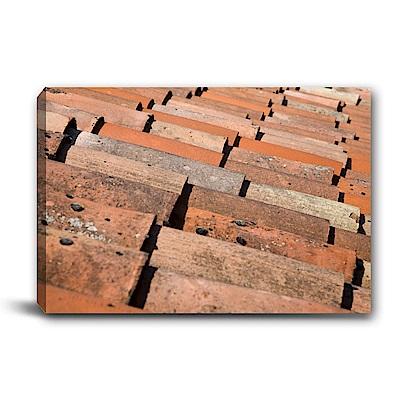 橙品油畫布-單聯式橫幅 掛畫無框畫 磚紅-60x40cm