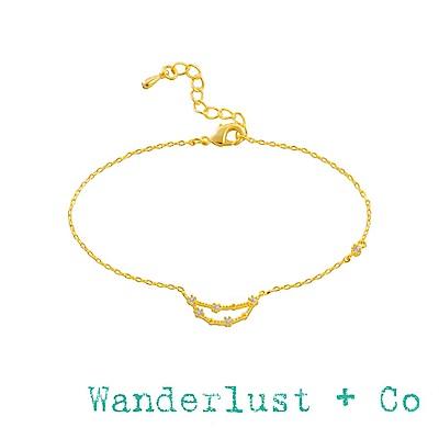 Wanderlust+Co 澳洲品牌 魔羯座手鍊 金色鑲鑽手鍊 CAPRICORN
