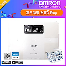 OMRON歐姆龍藍芽智慧體重體脂計HBF-254C-白色