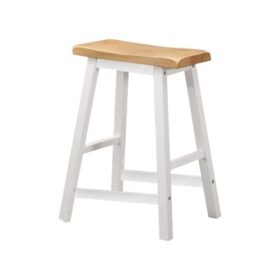 Bernice-夏菲1.5尺白色實木吧台椅/高腳餐椅/休閒椅(二入)-44x23x60cm