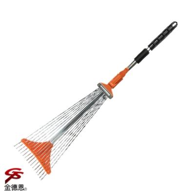 金德恩 台灣製造 15齒伸縮樹葉草耙子155x55cm/顏色隨機