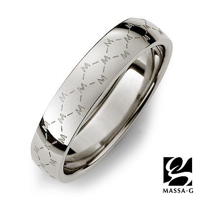 MASSA-G【M.Class】M04 經典LOGO純鈦戒指-銀