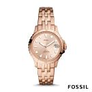 FOSSIL FB-01 個性時尚三針鍊帶女錶-玫瑰金色 36MM ES4748