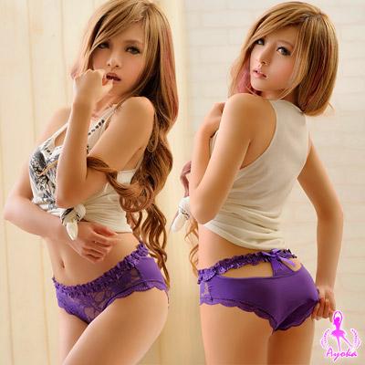Ayoka內褲溫柔造型美臀內褲-紫