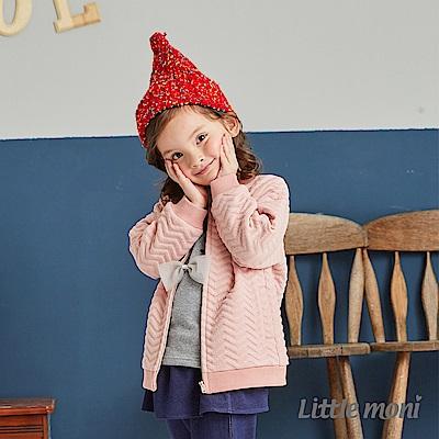Little moni 幾合壓紋鋪棉外套(共2色)