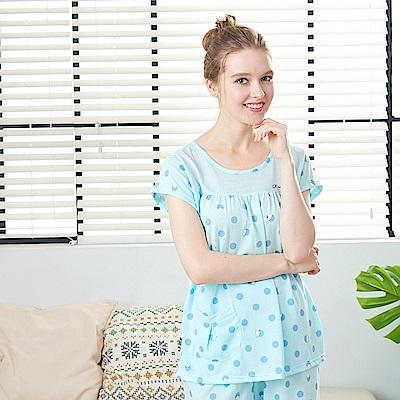 睡衣 告白小熊點點兩件式睡衣 兩色可選(R87007)蕾妮塔塔