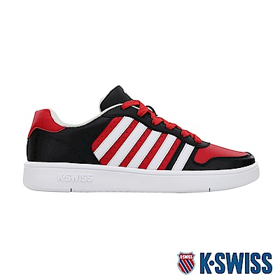 K-SWISS Court Palisades時尚運動鞋-男-黑/紅/白