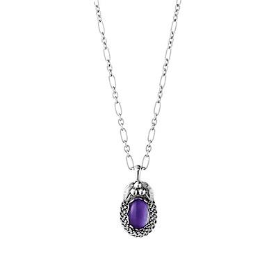 Georg Jensen 喬治傑生 - 1992 HERITAGE年度復刻版項鍊 紫水晶