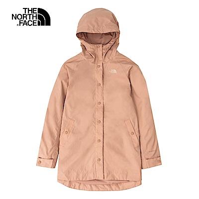 The North Face北面女款粉色防潑水連帽防風外套 4U9VV3R