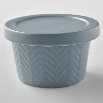 日本Meister Hand 人字醬菜缽 含蓋 藍灰色