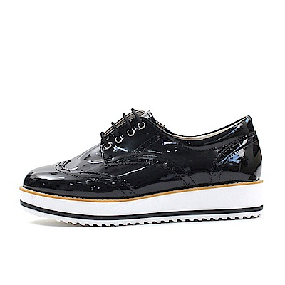 【AIRKOREA韓國空運】漆皮經典牛津鞋休閒鞋-黑