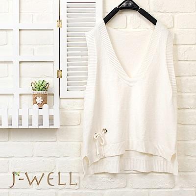 J-WELL 質感小綁帶針織背心(5色)