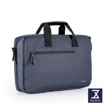 74盎司 Witty 休閒商務電腦側背包(15吋)[G-1057-WI-M]藍