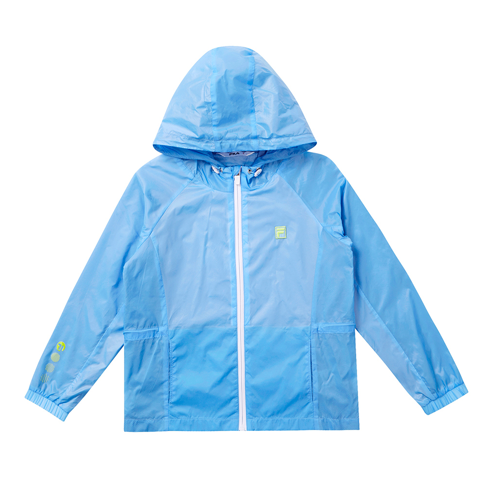 FILA KIDS 童風衣外套-藍 1JKT-4300-VT