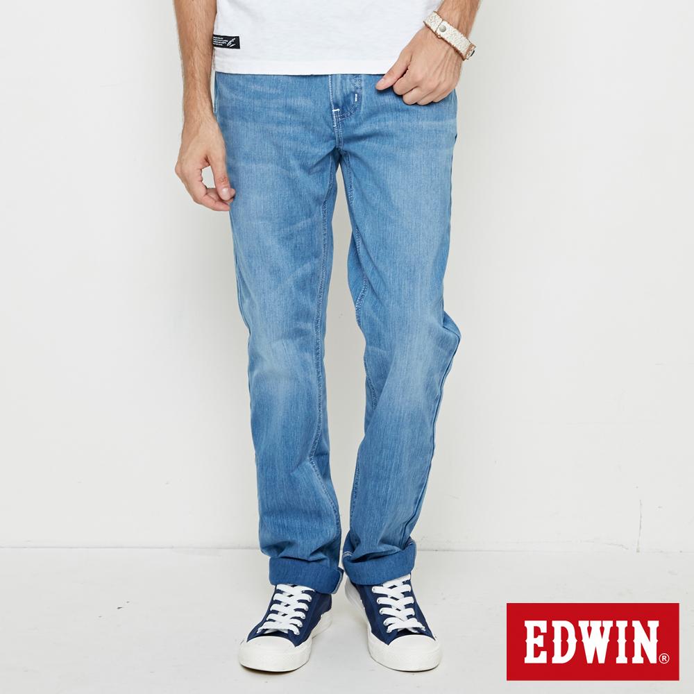 EDWIN 迦績褲JERSEYS棉感直筒褲-男-重漂藍