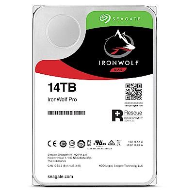 Seagate IronWolf Pro 14TB NAS專用碟ST14000NE0008(三年資料救援)
