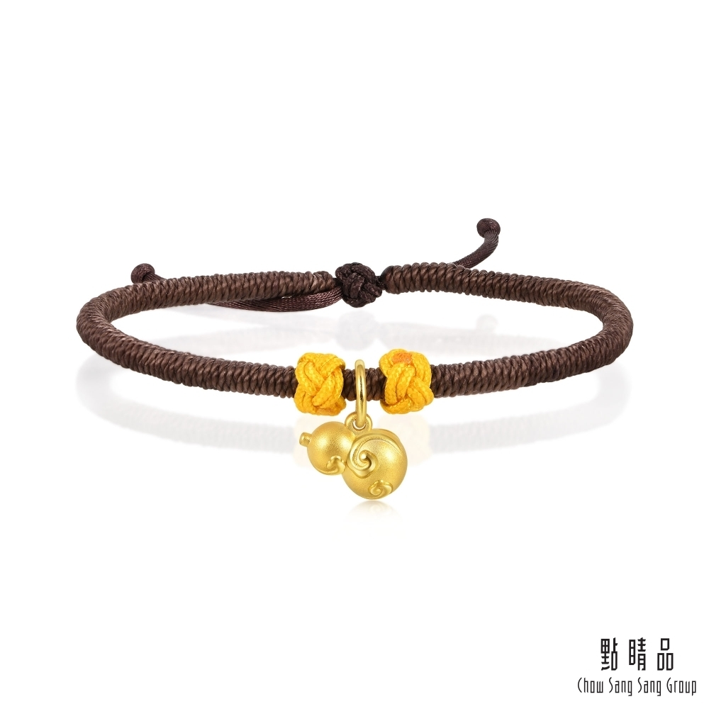 點睛品 福祿葫蘆 黃金手繩(男版)