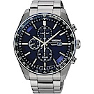 SEIKO 精工 Criteria 太陽能計時腕錶(SSC727P1)-藍x銀/42mm