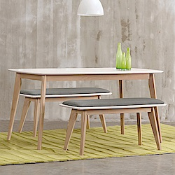 AS-派特蘿配色餐桌椅組(1桌2凳)-120x75x74.5cm