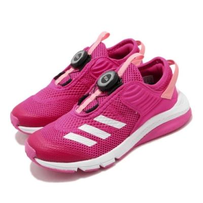 adidas 慢跑鞋 ActiveFlex Boa 運動休閒 童鞋 愛迪達 BOA旋鈕鞋帶系統 透氣 中童 粉 白 FV3449