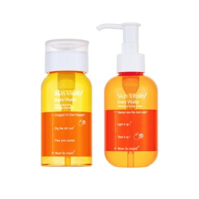 Skin Vitality 膚能量 果然淨化毛孔卸妝水 150mL+果然淨白化妝水 150mL