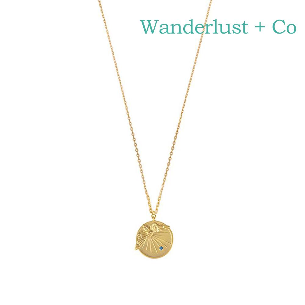 Wanderlust+Co 澳洲時尚品牌 PETITE BEE經典小蜜蜂項鍊 金色