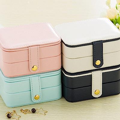 梨花HaNA 輕旅行粉彩隨身攜帶首飾盒珠寶盒收納