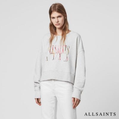 ALLSAINTS TONIC EXPRESS MARNA 文字標語純棉長袖衛衣上衣-灰