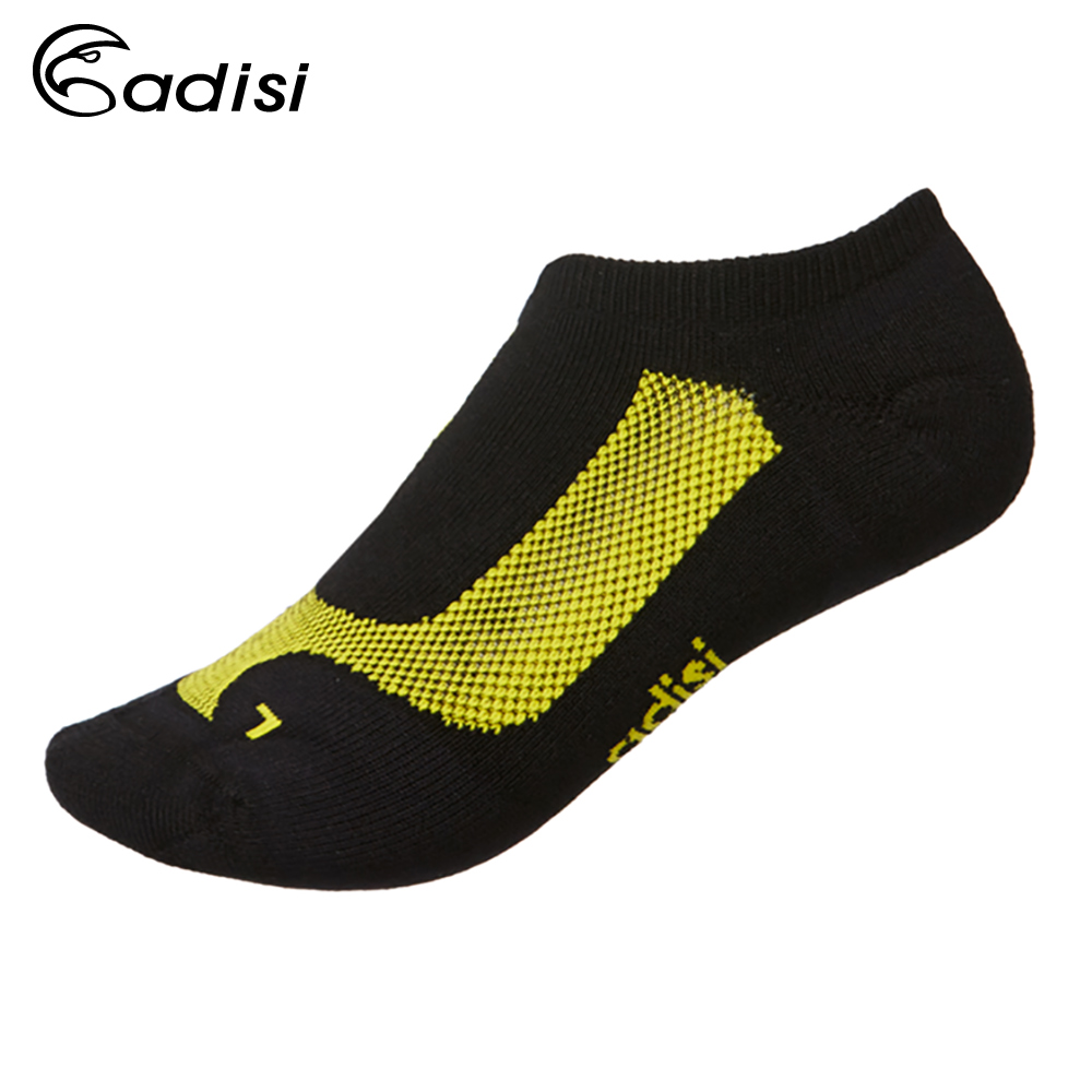 ADISI 抗菌除臭運動慢跑踝襪AS15208 黑/黃