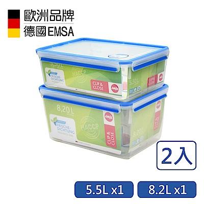 德國EMSA 專利上蓋無縫3D保鮮盒-PP材質-5.5+8.2L超大容量