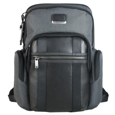 TUMI Alpha NELLIS系列尼龍拼接後背包適用15吋筆電-炭灰
