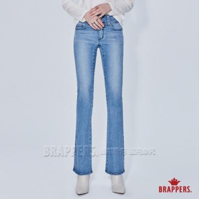 BRAPPERS 女款 新美尻系列-中腰彈性喇叭褲-淺藍