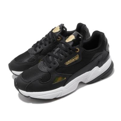 adidas 休閒鞋 Falcon 老爹鞋 厚底 女鞋 愛迪達 三葉草 金標 流行款 穿搭 黑 金 EF4988