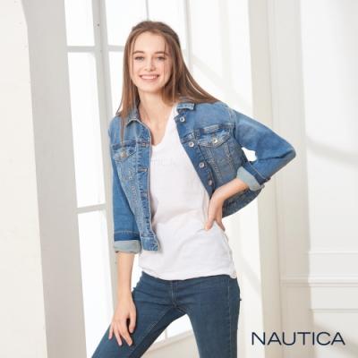 Nautica女裝短版刷色牛仔外套
