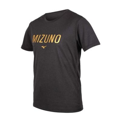 MIZUNO 男 短袖T恤 深灰金