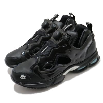 Reebok 休閒鞋 Fury DMX L 運動 男女鞋 襪套 充氣科技 舒適 情侶穿搭 皮革 黑 銀 DV7676