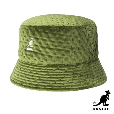 KANGOL-DASH 紋路護耳漁夫帽-綠色