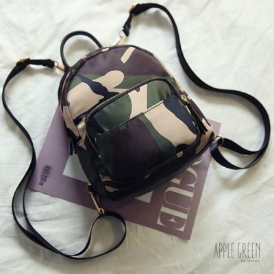 Apple Green 韓版時尚迷你後背包(迷彩)