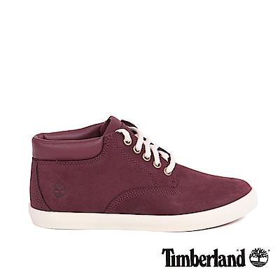 Timberland 女款酒紅色絨面皮革休閒鞋 | A1H1T639
